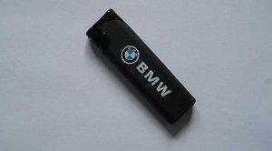 BMW NAME AND BADGE ON BLACK GAS LIGHTER