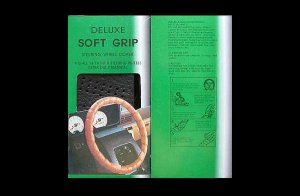 STEERING WHEEL COVER DELUXE SOFT GRIP COLOUR BLACK