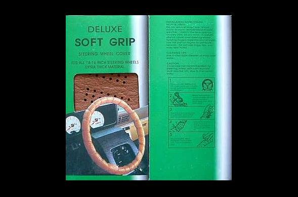 STEERING WHEEL COVER DELUXE SOFT GRIP COLOUR TAN