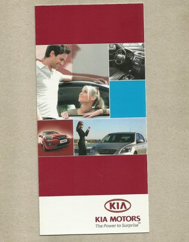 KIA MOTORS UKRAINIAN LANGUAGE CAR SPECIFICATIONS BROCHURE