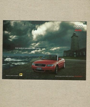 AUDI A4 CABRIOLET LIGHTHOUSE ADVERTISING POSTCARD FROM ITALY
