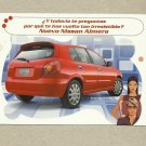 NISSAN ALMERA CAR SPANISH LANGUAGE ADVERTISING POSTCARD FROM MEXICO