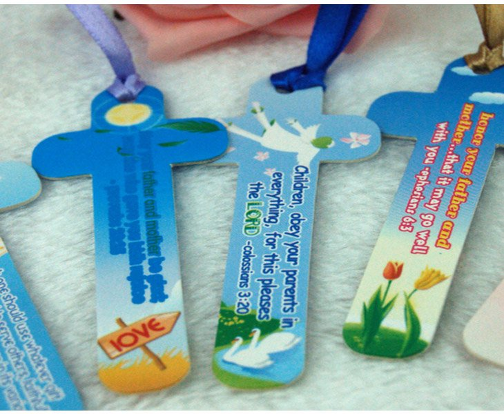Christian Bookmarks set of 10 English Chinese bilingual