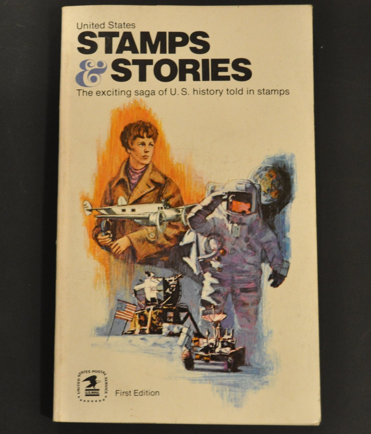 vintage 1972 United States Stamps & Stories