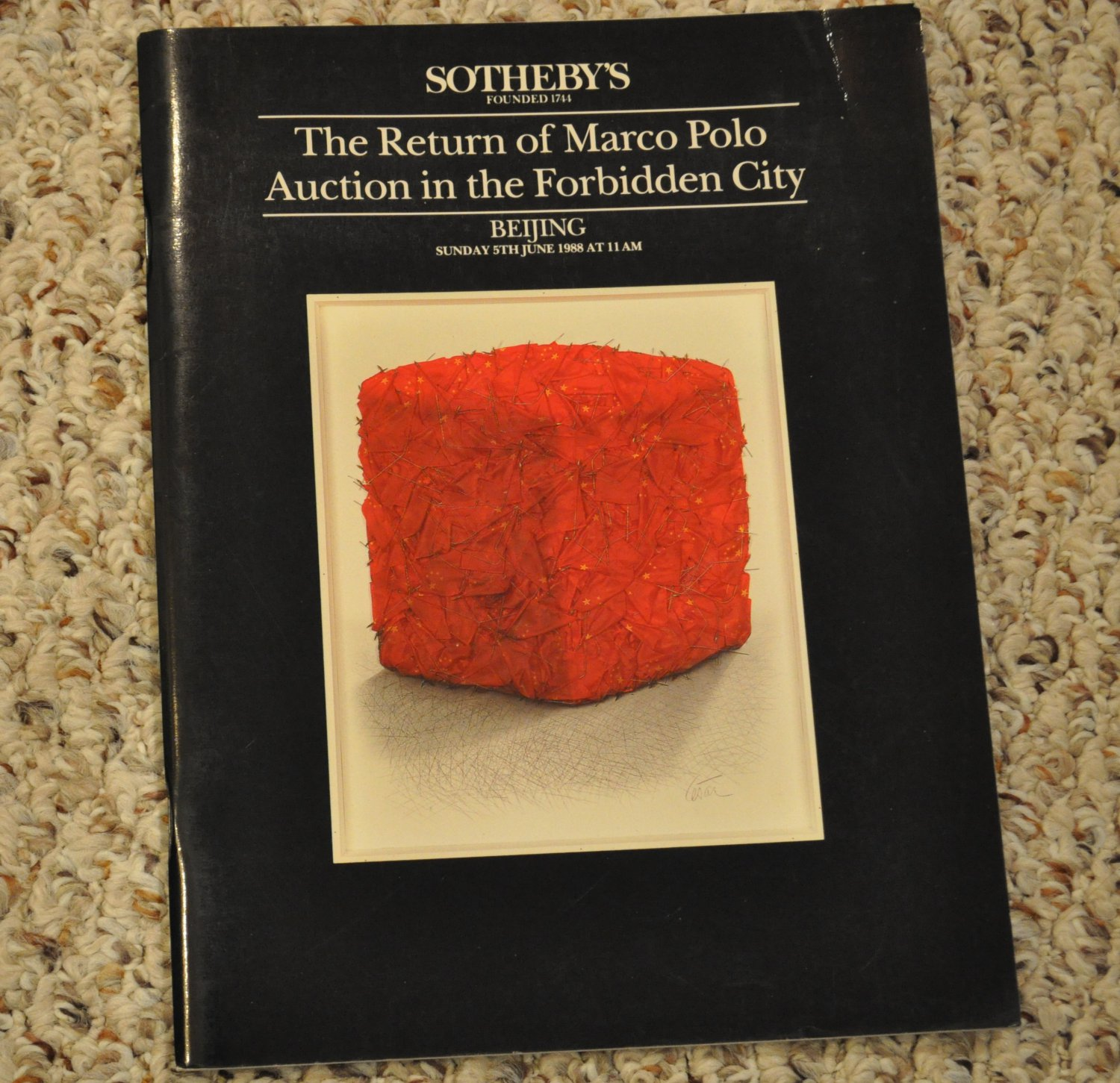 Sotheby's catalog The Return of Marco Polo Auction in Beijing 1988 Chinese art