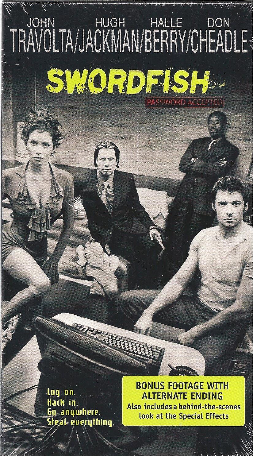 Swordfish VHS John Travolta Halle Berry