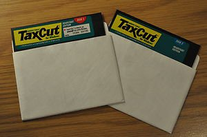 """TaxCut for Windows Vintage Software 5"""" Disk as-is"""