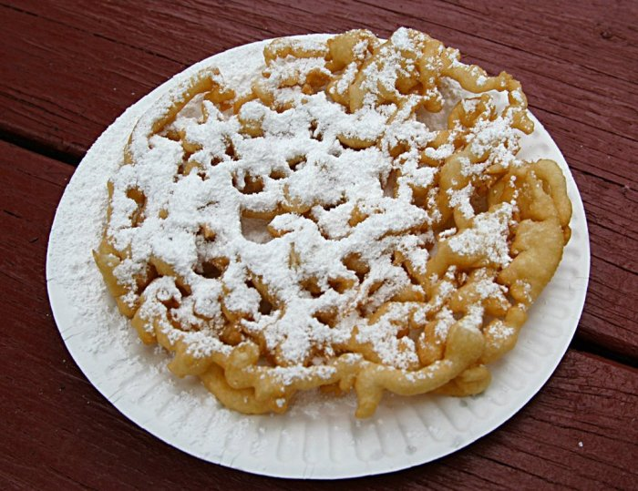 Mailable Mixies - Creative Cakes - Deep Fried Funnel Cake