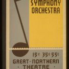 Old Vintage WPA Photo Reprint: Illinois Symphony Orchestra--Great North Theatre