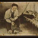 OLD VINTAGE Antique RP Photo: Stone Walls + Chains do not make a prison Houdini