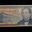 """World/ Foreign Bill Banknote CURRENCY: MEXICO, 50 """"KZ SERIES"""" 1989 VINTAGE NOTE"""