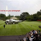 8.5x11 Photo:President Barack Obama: Marine One Helicopter South Lawn White H.