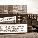 REPRODUCTION ANTIQUE PHOTO:SEPIA: ANTIQUE REIF'S DARK BEER DELIVERY TRUCK EMPTY