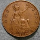 1936 #2 BRITISH UK ENGLAND LARGE COPPER PENNY CENT: Antique/Vintage Coin
