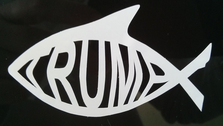 Trump Shark Die Cut Sticker