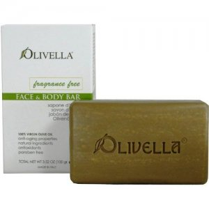Italian Olivella Fragrance Free Olive Oil Face & Body Bar 3.52 oz