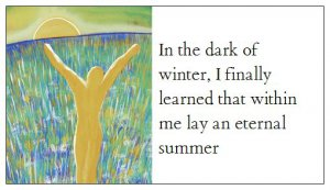 Inspirational Magnet Small Eternal Summer Quote from Albert Camus