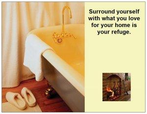 Large Inspirational Magnet Home is Your Refuge