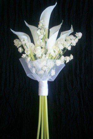 Elegant White Callas Bridal Bouquet