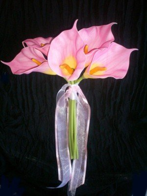Pink Callas Contemporary Bouquet