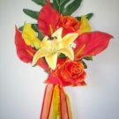 Tropical Ecstasy Callas, Roses & Lily Bouquet