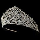 Silver Clear Crystal and Rhinestone Heart Tiara Headpiece 920