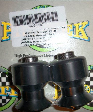 Pro-tek Swing Arm Spool Slider Hyosung 2004 2005 2006 2007 2008 GT650 EFI Black SAS-18K