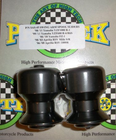 Pro-tek Swing Arm Spool Slider Triumph 2006 2007 2008 2009 2010 2011 Daytona 675 Black SAS-45K