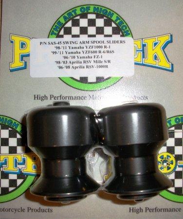 Pro-tek Swing Arm Spool Slider Aprilia 1995 1996 1997 1998 1999 2000 2001 2002 RS250 Black SAS-45K