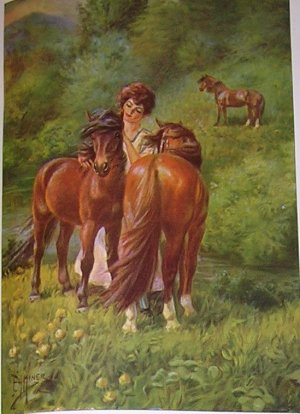 1923 WELSH PONY PRINT by EDWARD H MINER Plate-9