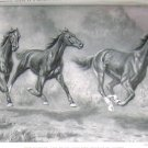 1923 HORSES: THE TROTTER, PACER & RUNNER PRINT by MINER