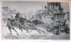 1923 Photo Print Ben Hurs Chariot Race by Artist Checa