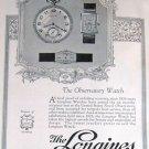 1923 Longines Watch Ad & Elgin Watch Ad Beautiful Art