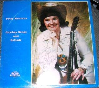 Patsy Montana Cowboy Songs and Ballads LP Signed RARE