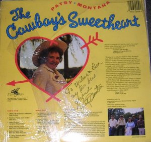 Patsy Montana The Cowboys Sweetheart LP Signed MINT!