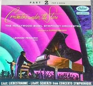 Concertos Under The Stars Hollywood Bowl Sym Orch 45 NM