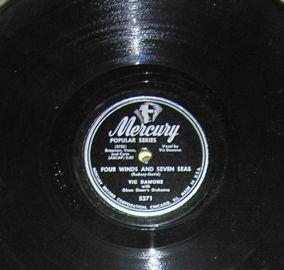 Vic Damone, Four Winds and Seven Seas, Breaking My Heart 78 Mercury 5271