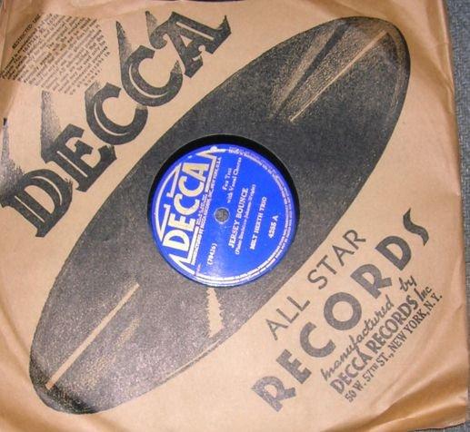 Milt Herth Trio Jersey Bounce 78 Vintage Record