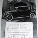 1923 Lafayette Automobile Car Ad & General Electric Ad