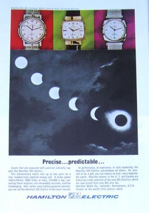 1964 Vintage Evinrude Outboard Motor Ad & Hamilton Electric Watch Ad
