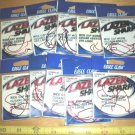 10 packs Eagle Claw Lazer Sharp, Wide Gap, Offset Bass Hooks, Red, size 2/0 (bass, worm hooks)