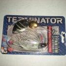 Terminator T-1 Titanium Spinnerbait, New Old Stock, 1/2 oz Silver Shiner T1214ttb