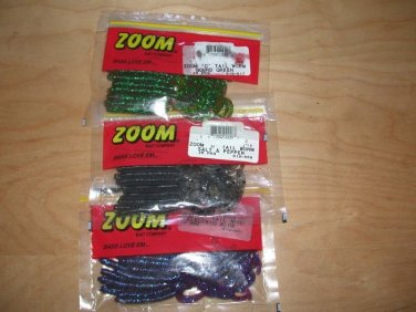 3 packs Zoom C-tail (curly tail) worms