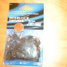 50 SIZE 7 SOUTH BEND BLACK INTERLOCK SNAP SWIVELS