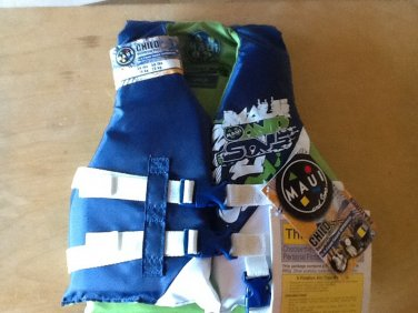 Maui & Sons Child's Life Vest 30-50 lbs, USCG Approved Type 3 PDF, New w. Tags.