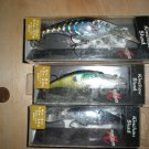 (3) Matzuo Kinchou Shad Crankbaits, (two SMSS-7, 1 SMSS-9), Shad & Bluegill, New