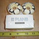 (4) Plan B Duffy 50 mm Skateboard Wheels, white-black Superthane, New old Stock