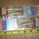 "(2 )Rebel Floating  Minnow 2.5"", Silver black,Gold Black Bass,walleye,Musky Lure"
