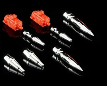 Dr. Wu DW-P19S Red Warhead Missile Weapon Set for Transformers MP-18 Streak New