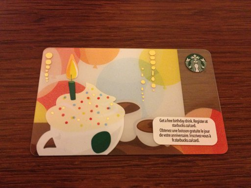 Canada Birthday Drink Happy Birthday 2012 Starbucks Card 6077 Mint